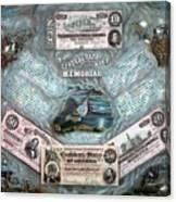The Confederate Note Memorial  Canvas Print