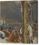 The Confession Of Saint Longinus Canvas Print
