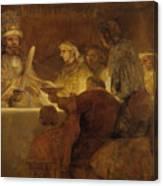 The Conspiracy Of The Batavians Under Claudius Civilis Canvas Print