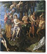 The Contest Between Apollo And Pan, 1600 Canvas Print
