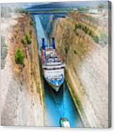 The Corinth Canal  Canvas Print