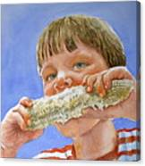 Andrew The Corn Eater Canvas Print