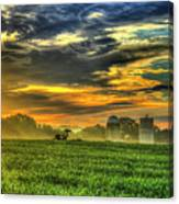 The Cornfield Dawn The Iron Horse Collection Art  Canvas Print