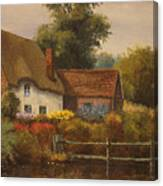 The Country Cottage Canvas Print