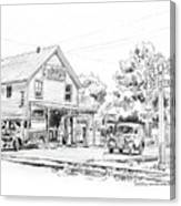 The County Line Store, 1931 Canvas Print