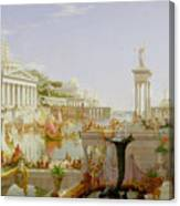 The Course Of Empire - The Consummation Of The Empire Canvas Print