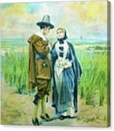 The Courtship Of Miles Standish Canvas Print