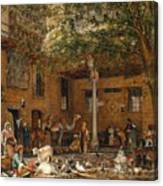The Courtyard Of The Coptic  Canvas Print