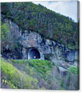 The Craggy Pinnacle Tunnel On The Blue Ridge Parkway In North Ca Canvas Print