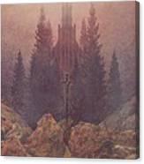 The Cross In The Mountains 1812  By Caspar David Friedrich 1774-1840 Canvas Print