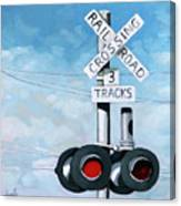 The Crossing - Train Signals Canvas Print