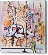 The Crouching Man Canvas Print