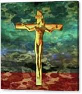 The Crucific Pop Art By Mary Bassett Canvas Print