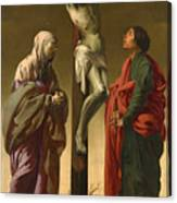 The Crucifixion With The Virgin And Saint John Canvas Print