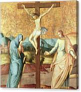 The Crucifixion With The Virgin And St John The Evangelist Canvas Print