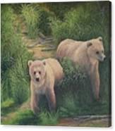 The Cubs Of Katmai Canvas Print