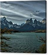 The Cuernos And Lake Pehoe #3 - Chile Canvas Print