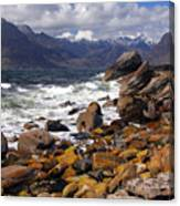 The Cuillin Mountains From Elgol Canvas Print