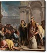 The Cup In Benjamin Sack Amigoni, Jacopo Canvas Print
