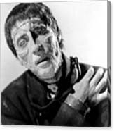 The Curse Of Frankenstein Christopher Lee 1957 Canvas Print