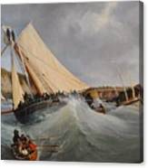 The Cutter Furet In The Service Of Her Royal Highness Canvas Print