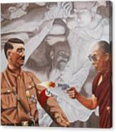 The Dalai Lama Shoots Adolph Hitler Canvas Print