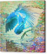 The Dance Of The Blue Heron Canvas Print