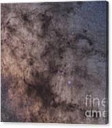 The Dark Horse And Snake Nebulae Canvas Print