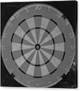 The Dart Board In Black And White Canvas Print