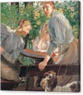 The Daughters Of The Artist In The Garden Canvas Print