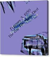 The Day The Music Died - Feb 3 1959 Canvas Print