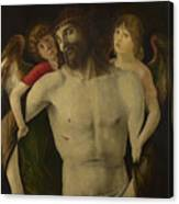 The Dead Christ Supported By Angels Canvas Print