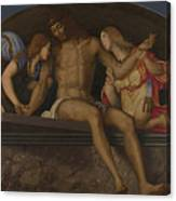 The Dead Christ With Angels Canvas Print