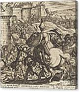 The Death Of Abimelech Canvas Print