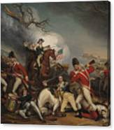 The Death Of General Mercer At The Battle Of Princeton, January 3, 1777  Canvas Print