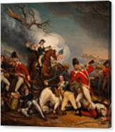 The Death Of General Mercer At The Bottle Of Princeton Canvas Print