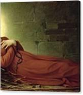 The Death Of Germaine Cousin The Virgin Of Pibrac Canvas Print