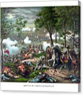 The Death Of Stonewall Jackson Canvas Print
