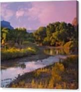 The Delores River At Gate Way Colorado Canvas Print