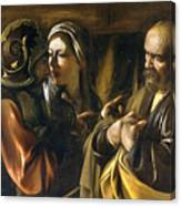 The Denial Of Saint Peter Canvas Print