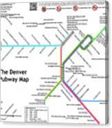 The Denver Pubway Map Canvas Print