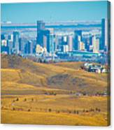 The Denver Skyline II Canvas Print