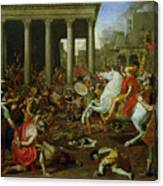 The Destruction Of The Temples In Jerusalem By Titus Canvas Print