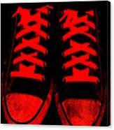 The Devil Wears Converse Canvas Print