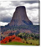 The Devils Tower Wy Canvas Print