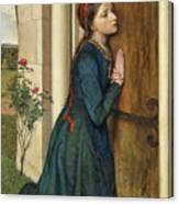 The Devout Childhood Of Saint Elizabeth Of Hungary, 1852 Canvas Print