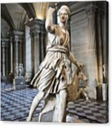 The Diana Of Versailles In The Louvre Canvas Print