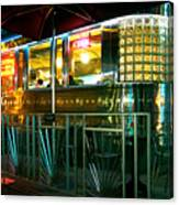 The Diner By Night Canvas Print