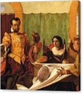 The Dinner Scene From Taming Of The Shrew Canvas Print