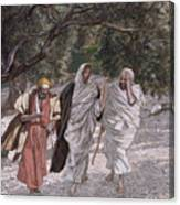 The Disciples On The Road To Emmaus Canvas Print